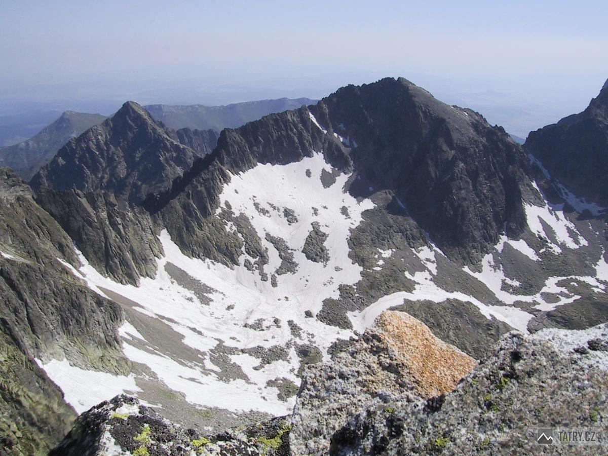 Kolový štít a Baranie rohy z Malého Ľadového štítu