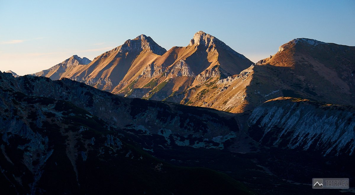 Nový vrch, Havran, Ždiarska vidla a Hlúpy ze Sedla pod Veľkou Svišťovkou