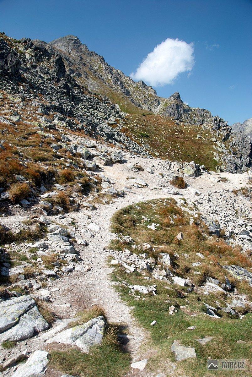vrchol Slavkovského štítu při výstupu