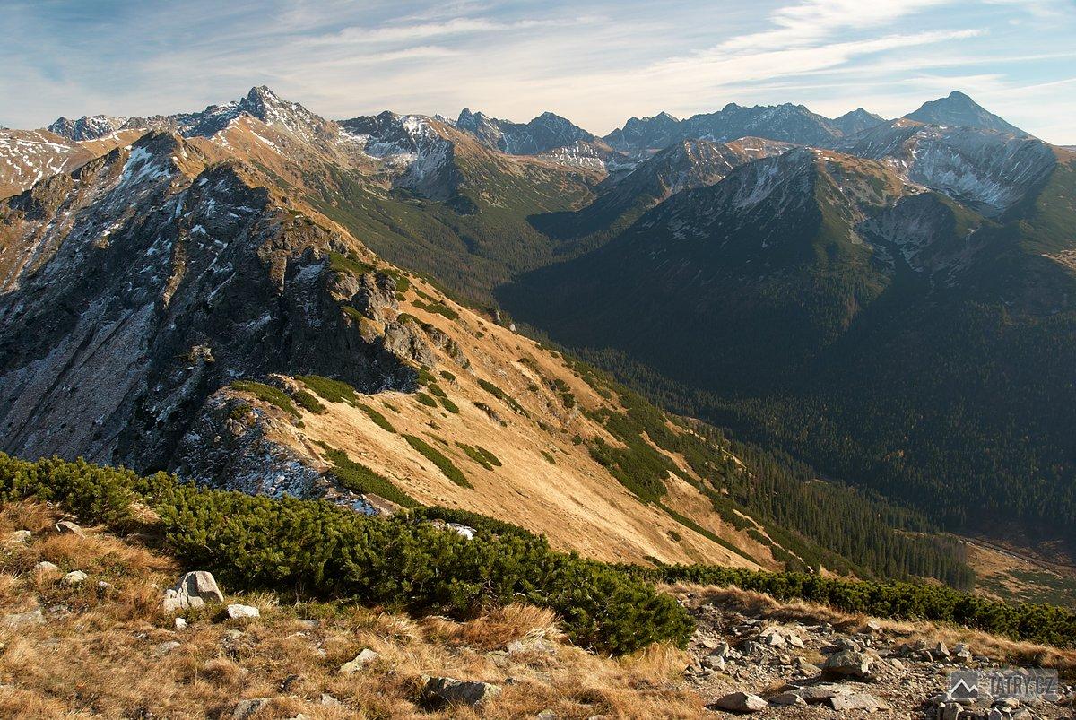 Zadná Tichá dolina ze Suchého vrchu Kondrackého