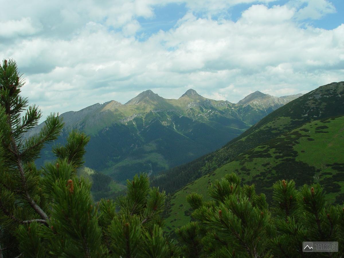 Havran, Ždiarska vidla a Hlúpy z masivu Horvátova vrchu