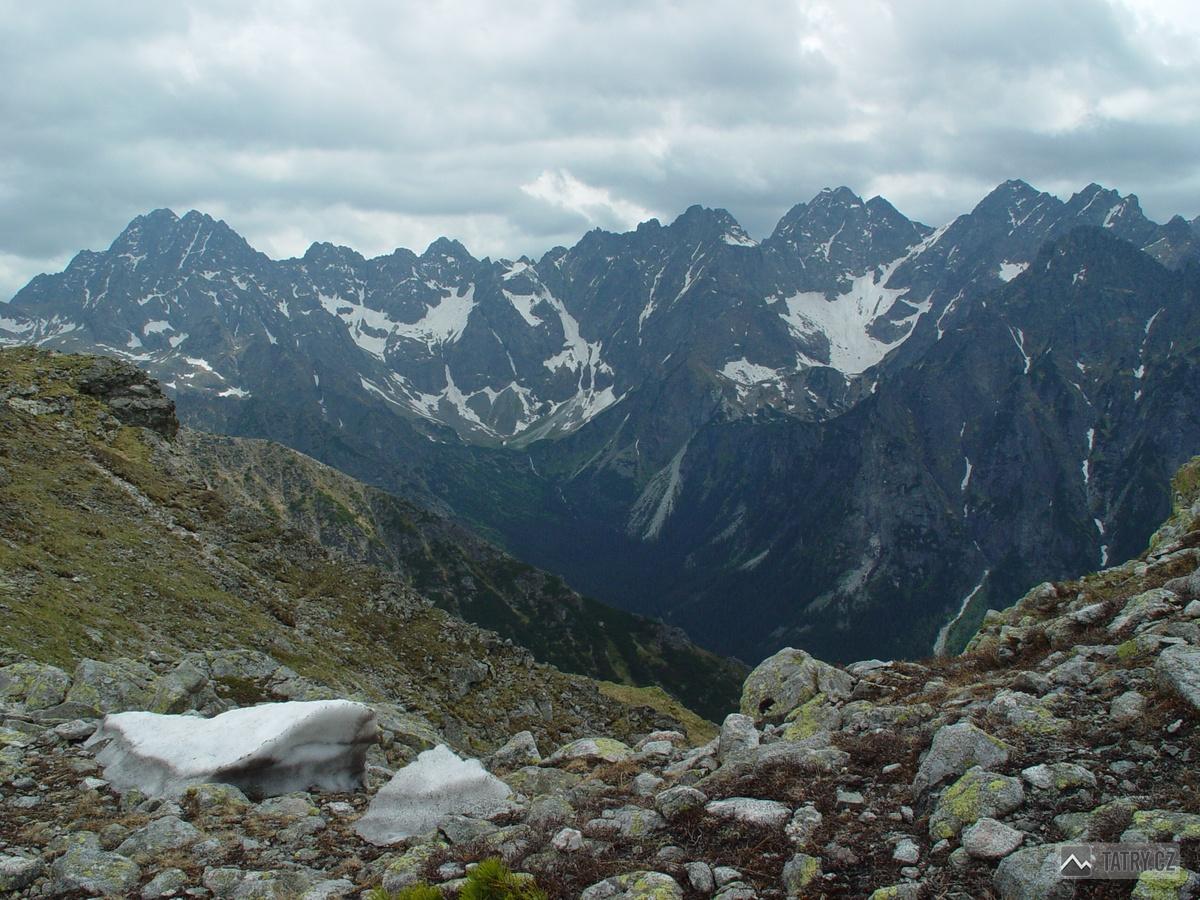 Gerlachovský štít, Vysoká a Rysy z masivu Široké