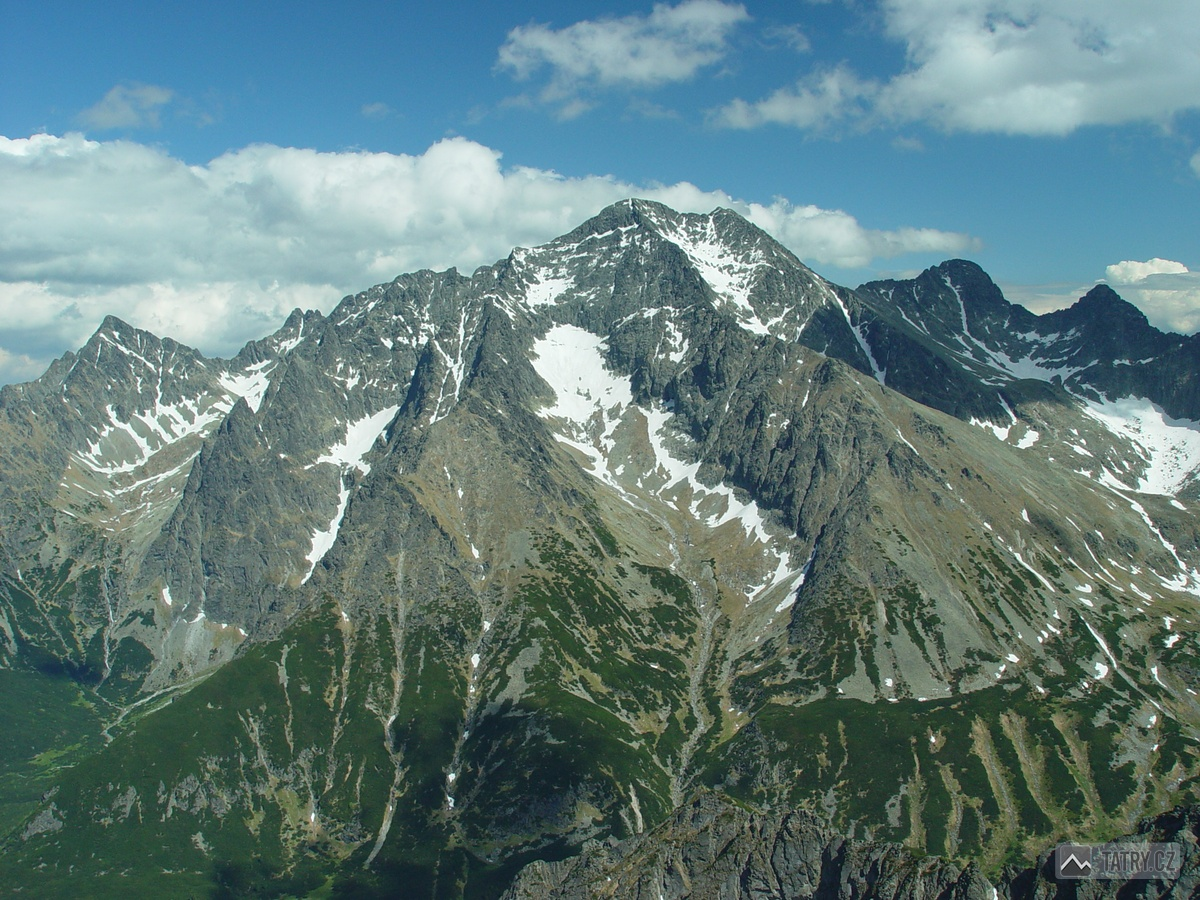 Kolový štít, Ľadové štíty, sedlo Sedielko, Široká veža a Ostrý štít ze Široké