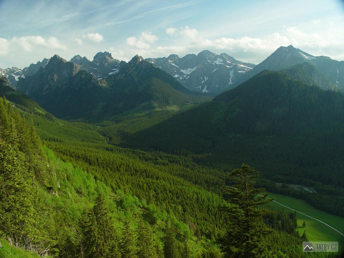 Bielovodská dolina ze svahu Zadné kopy