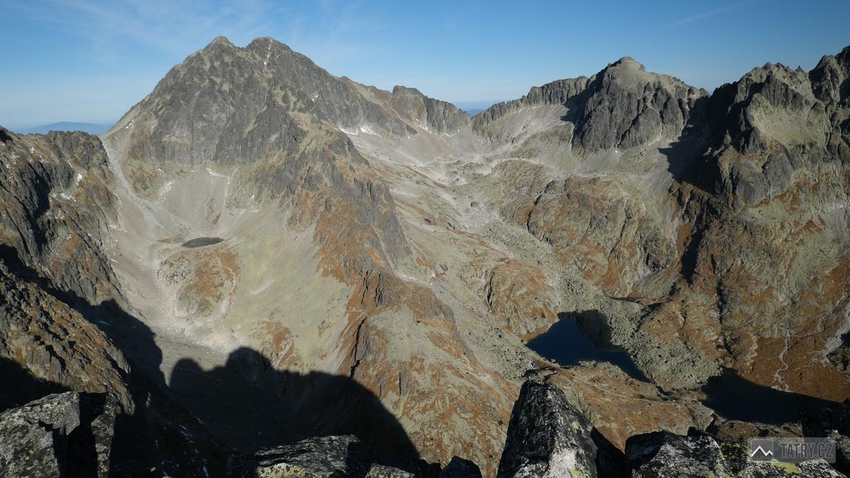 Ľadové štíty a Baranie rohy z Prostredného hrotu