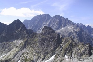 Východná Vysoká, Gerlachovský štít a Divá veža ze Svišťového štítu
