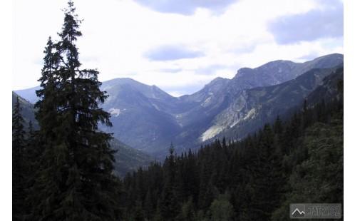 Tomanovská dolina ze závěru Tiché doliny