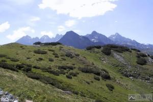 Vysoké Tatry od Širokého sedla