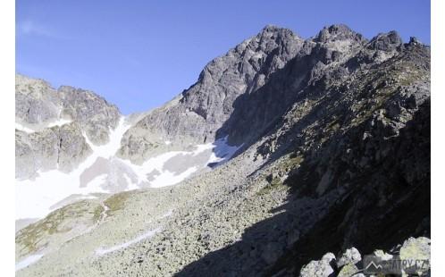 Sedielko a Malý Ľadový štít z Dolinky pod Sedielkom