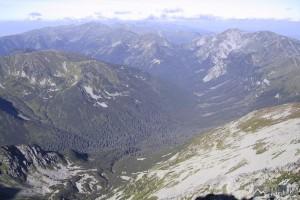 Tichá dolina a Tomanovská dolina ze Svinice