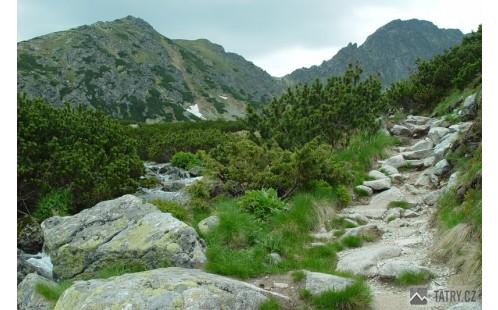 výstup ve spodní části Furkotské doliny