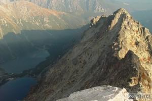Czarny Staw, Morskie Oko a Nižné Rysy z vrcholu
