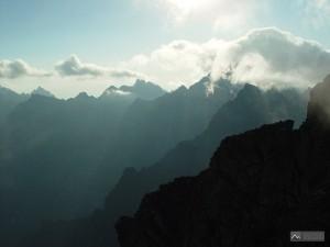 panorama z Rysů