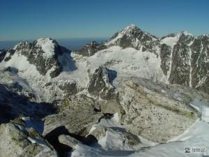 Javorové a Ľadové štíty ze Slavkovského štítu