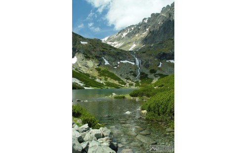 Velické pleso a Velický vodopád