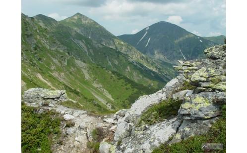 Jakubiná a Klin z hřebene Otrhancov