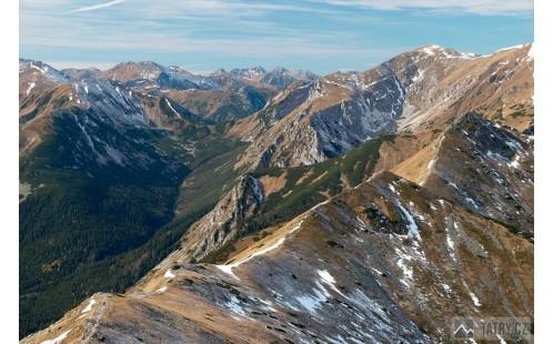 Tomanovská dolina z Kasprova vrchu