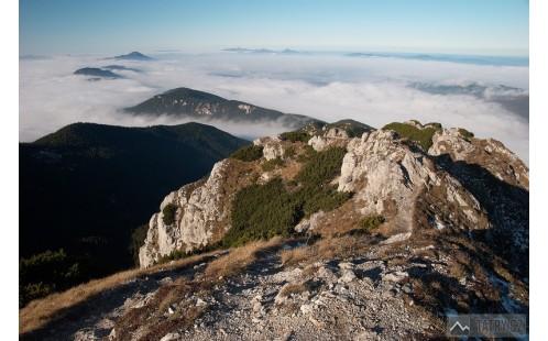 pohled z vrcholu na západ