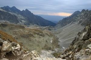 pohled z Prielomu do Veľké Studené doliny