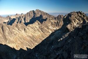 Severozápadní vrchol Vysoké a nejvyšší štít Tater - Gerlach