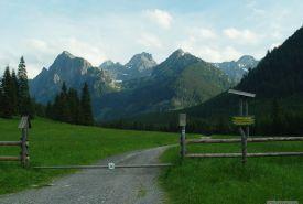 Mlynár, Vysoká, Rysy, Nižný Žabí štít a Východný Mengusovský štít z ústí Bielovodské doliny