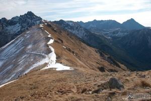 Svinica a Kriváň z Kasprova vrchu