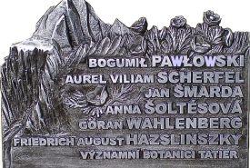 Pamětní deska významným botanikům Tater