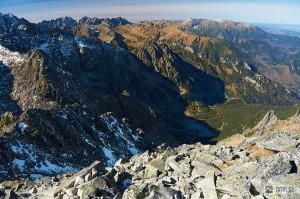 výhled z Jahňacího štítu západním směrem