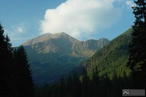 pohled na Bystrou a Blyšť od chaty