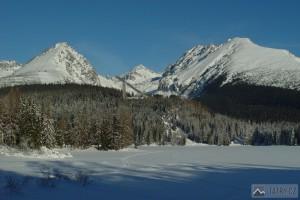 zamrzlé Štrbské pleso a Mlynická dolina