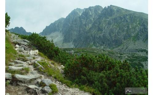 Batizovský štít a masiv Gerlachu od prahu Batizovské doliny