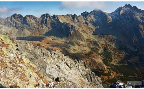výhled do Mengusovské doliny při dosažení hřebene