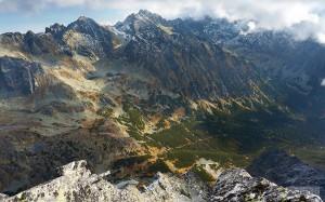 Mengusovská dolina z vrcholu Satana
