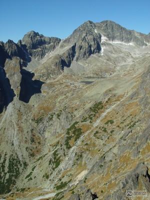 mohutný práh Malé Studené doliny z Lomnického sedla