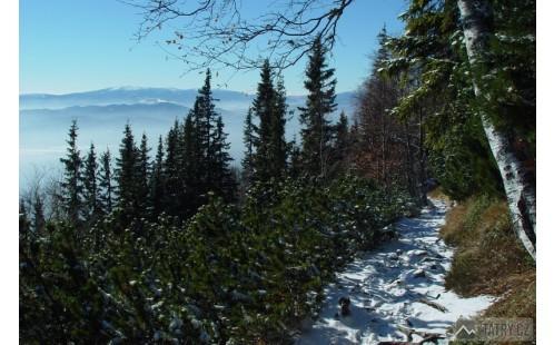 Nízke Tatry při výstupu na Slavkovskou vyhliadku