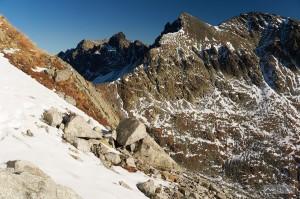 Poľský hrebeň a Východná Vysoká při výstupu na Gerlach