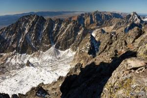 Končistá, Kriváň, Vysoká a Nízke Tatry z Gerlachovského sedla