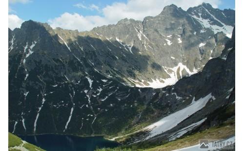 Morskie Oko při sestupu ze Szpiglasowe Przełęczi