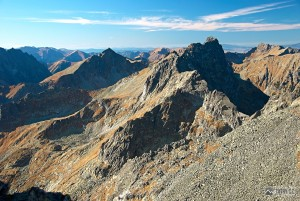 Kôprovský a Veľký Mengusovský štít při výstupu na Vysokou