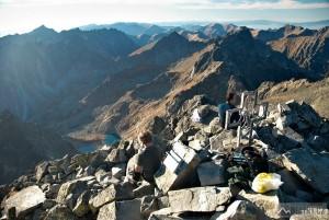 Na vrcholu Vysoké ve výšce 2547 m
