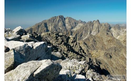 pohled z vrcholu na Gerlachovský štít