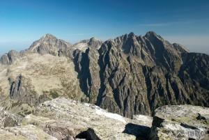 Malý Ľadový štít, Baranie rohy, Pyšný a Lomnický štít z vrcholu