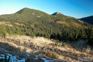 Ostrá a Sivý vrch ze svahu Malé kopy