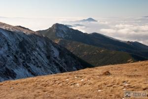 Sivý vrch a Veľký Choč z Brestové
