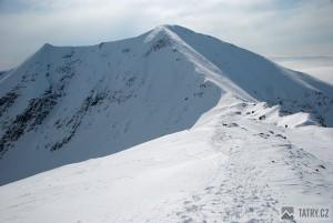 Baranec v zimě ze Smreku