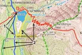 Mapa Hiking.sk