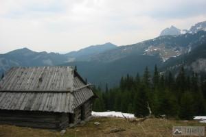 Pohled z Polany Stoły k východu na Giewont