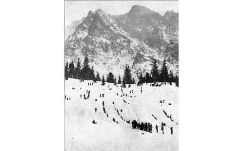 Pátrači v laviništi nad Hincovo potokem