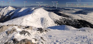panorama z Veľkého Kriváně