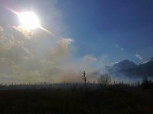 Požár v lokalitě Tri mosty